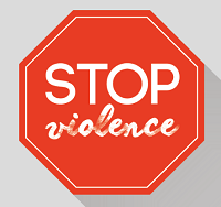 stop sign that says stop violence